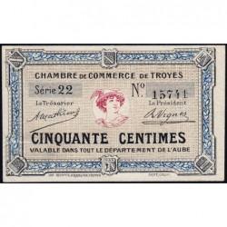 Troyes - Pirot 124-1 - Série 22 - 50 centimes - Sans date - Etat : SUP