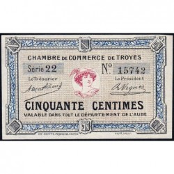 Troyes - Pirot 124-1 - 50 centimes - Série 22 - Sans date - Etat : NEUF