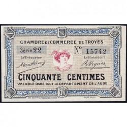 Troyes - Pirot 124-1 - Série 22 - 50 centimes - Sans date - Etat : NEUF