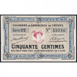 Troyes - Pirot 124-1 - Série 22 - 50 centimes - Sans date - Etat : SPL