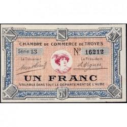 Troyes - Pirot 124-3 - Série 13 - 1 franc - Sans date - Etat : pr.NEUF