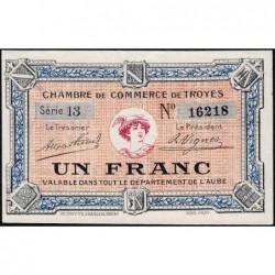 Troyes - Pirot 124-3 - Série 13 - 1 franc - Sans date - Etat : SUP+