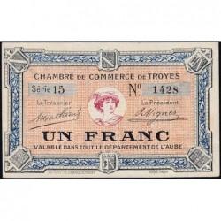 Troyes - Pirot 124-3 - Série 15 - 1 franc - Sans date - Etat : pr.NEUF