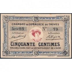 Troyes - Pirot 124-5 - 50 centimes - Série 28 - Sans date - Etat : pr.NEUF