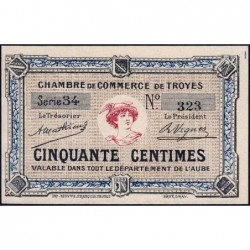 Troyes - Pirot 124-5 - 50 centimes - Série 34 - Sans date - Etat : NEUF