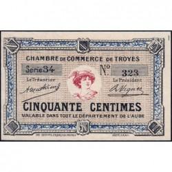 Troyes - Pirot 124-5 - Série 28 - 50 centimes - Sans date - Etat : NEUF