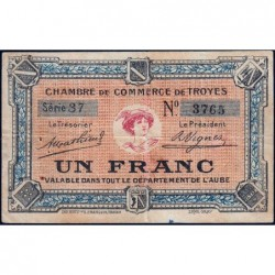 Troyes - Pirot 124-6 - 1 franc - Série 37 - Sans date - Etat : TB+