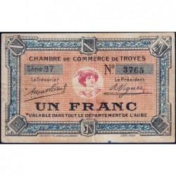 Troyes - Pirot 124-6 - Série 37 - 1 franc - Sans date - Etat : TB+