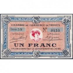Troyes - Pirot 124-6 - 1 franc - Série 59 - Sans date - Etat : pr.NEUF