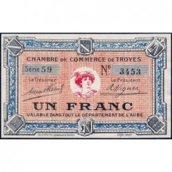Troyes - Pirot 124-6 - Série 59 - 1 franc - Sans date - Etat : pr.NEUF