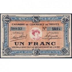Troyes - Pirot 124-6 - 1 franc - Série 93 - Sans date - Etat : TTB+