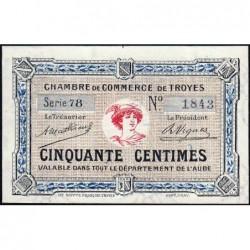 Troyes - Pirot 124-7a - Série 78 - 50 centimes - 4e émission - Sans date - ETAT : NEUF