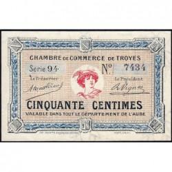 Troyes - Pirot 124-7a - 50 centimes - Série 94 - 4e émission - Sans date - ETAT : SUP+