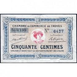 Troyes - Pirot 124-7b - 50 centimes - Série 190 - 4e émission - Sans date - ETAT : NEUF