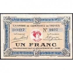 Troyes - Pirot 124-8 - Série 127 - 1 franc - 4e émission - Sans date - ETAT : SPL