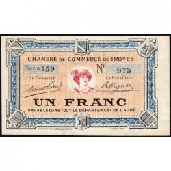 Troyes - Pirot 124-8 - 1 franc - Série 159 - 4e émission - Sans date - ETAT : SPL