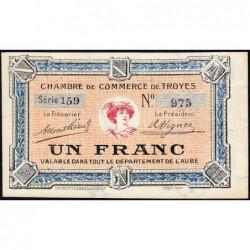 Troyes - Pirot 124-8 - Série 159 - 1 franc - 4e émission - Sans date - ETAT : SPL