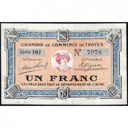 Troyes - Pirot 124-8 - 1 franc - Série 197 - 4e émission - Sans date - ETAT : pr.NEUF