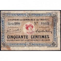 Troyes - Pirot 124-9a - 50 centimes - Série 280 - 5e émission - Sans date - ETAT : B+