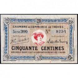 Troyes - Pirot 124-9a - 50 centimes - Série 300 - 5e émission - Sans date - ETAT : SUP+