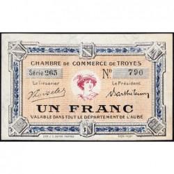 Troyes - Pirot 124-10 - 1 franc - Série 265 - 5e émission - Sans date - ETAT : pr.NEUF