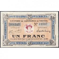 Troyes - Pirot 124-10 - 1 franc - Série 343 - 5e émission - Sans date - ETAT : SPL