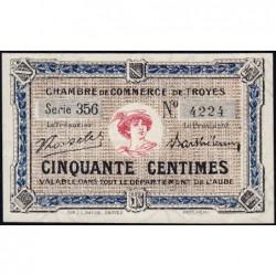 Troyes - Pirot 124-11 - Série 356 - 50 centimes - 6e émission - Sans date - ETAT : SUP+