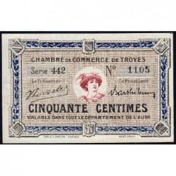 Troyes - Pirot 124-11 - 50 centimes - Série 442 - 6e émission - Sans date - ETAT : NEUF