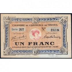 Troyes - Pirot 124-12b - 1 franc - Série 397 - 6e émission - Sans date - ETAT : SUP+
