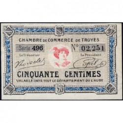 Troyes - Pirot 124-13 - 50 centimes - Série 496 - 7e émission - Sans date - ETAT : NEUF