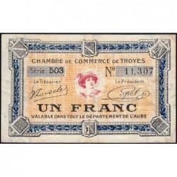 Troyes - Pirot 124-14 - Série 493 - 1 franc - 7e émission - Sans date - ETAT : TTB