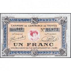 Troyes - Pirot 124-14 - 1 franc - Série 517 - 7e émission - Sans date - ETAT : pr.NEUF