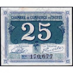 Troyes - Pirot 124-15 - 25 centimes - Sans série - Sans date - Etat : SPL