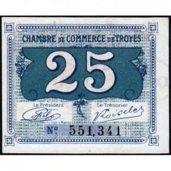 Troyes - Pirot 124-15 - 25 centimes - Sans série - Sans date - Etat : NEUF