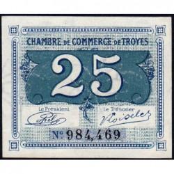 Troyes - Pirot 124-15 - Sans série - 25 centimes - Sans date - Etat : NEUF