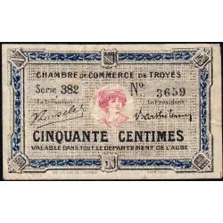 Troyes - Pirot 124-11 - 50 centimes - Série 382 - 6e émission - Sans date - ETAT : TB-