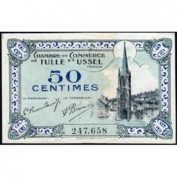 Tulle et Ussel - Pirot 126-1 - 50 centimes - Série A - 8e émission - Sans date - ETAT : pr.NEUF