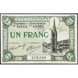 Tulle et Ussel - Pirot 126-3 - 1 franc - Série A - 8e émission - Sans date - ETAT : SUP+