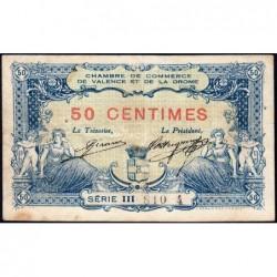 Valence (Drôme) - Pirot 127-2 variété - Série III - 50 centimes - 23/02/1915 - ETAT : TB+
