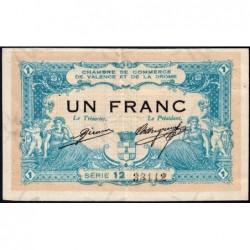 Valence (Drôme) - Pirot 127-4 - 1 franc - Série 12 - 23/02/1915 - ETAT : TTB+