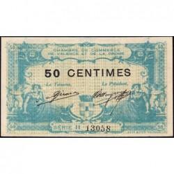 Valence (Drôme) - Pirot 127-6 - Série II - 50 centimes - 23/02/1915 - ETAT : SUP