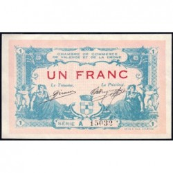 Valence (Drôme) - Pirot 127-7 - Série A - 1 franc - 23/02/1915 - ETAT : SUP+