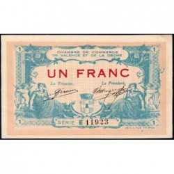 Valence (Drôme) - Pirot 127-7 - 1 franc - Série E - 23/02/1915 - ETAT : SUP+