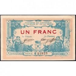 Valence (Drôme) - Pirot 127-7 - Série E - 1 franc - 23/02/1915 - ETAT : SUP+