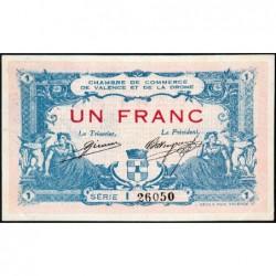 Valence (Drôme) - Pirot 127-7 - 1 franc - Série I - 23/02/1915 - ETAT : SUP+