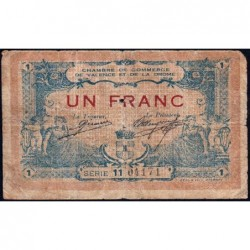 Valence (Drôme) - Pirot 127-8 - 1 franc - Série 11 - 23/02/1915 - ETAT : B-