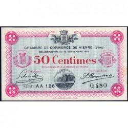 Vienne (Isère) - Pirot 128-4 - Série AA 126 - 50 centimes - 14/09/1915 - ETAT : SUP+