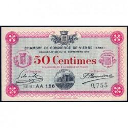 Vienne (Isère) - Pirot 128-4 - 50 centimes - Série AA 126 - 14/09/1915 - ETAT : pr.NEUF
