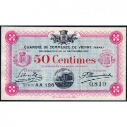 Vienne (Isère) - Pirot 128-4 - Série AA 126 - 50 centimes - 14/09/1915 - ETAT : pr.NEUF
