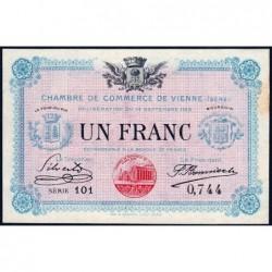 Vienne (Isère) - Pirot 128-5 - 1 franc - Série 101 - 14/09/1915 - ETAT : SUP+